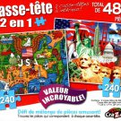 Made in America / The Land of the Free - Total 480 Piece 2 in 1 Jigsaw Puzzles