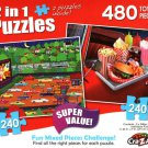 Date Night Drive / Drive in Diner - Total 480 Piece 2 in 1 Jigsaw Puzzles