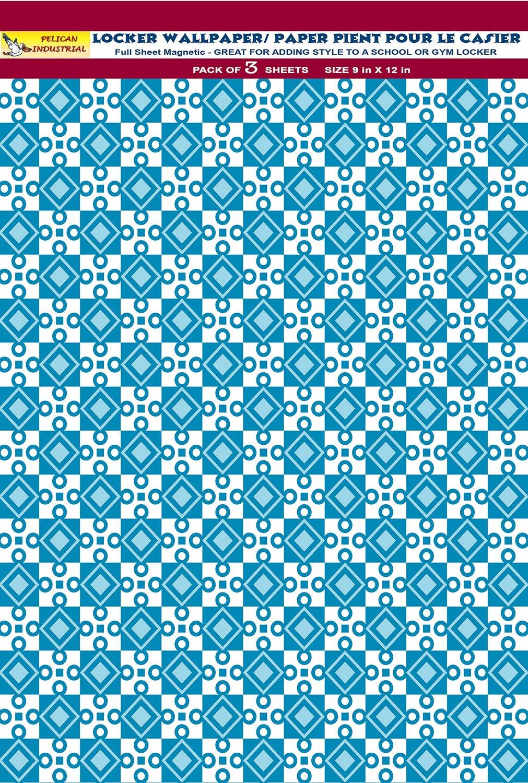 Magnetic School Locker Wallpaper (Full Sheet Magnetic) - Geometric - Pack of 3 Sheets - vr010