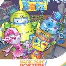 "Savvi Magic Paint Posters ~ Blunder Bots (A Robotic Adventure; 12 Posters, 6"" x 8"")"
