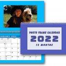 2022 Photo Frame Wall Spiral-bound Calendar (Add Your Own Photos) - (Geometrics Edition #005)