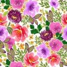Magnetic School Locker Wallpaper (Full Sheet Magnetic) - Flowers - Pack of 3 Sheets - vr13