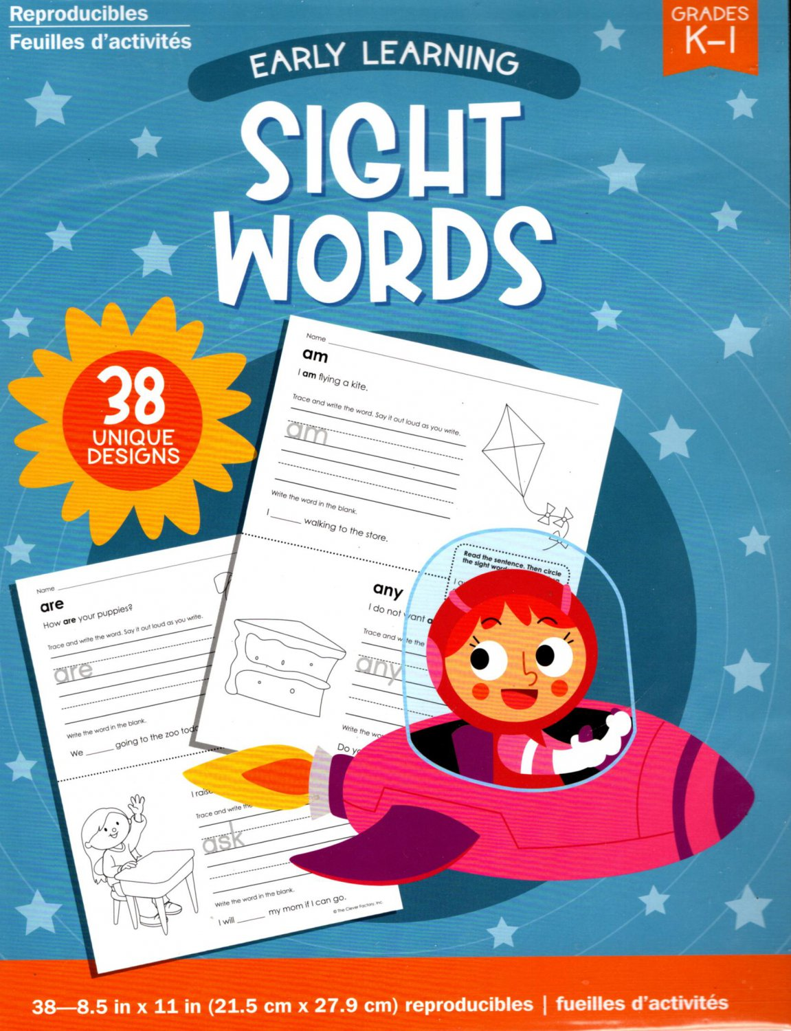 Early Learning - Sight Words Educational Workbook - Reproducible - Grades K-1 v2