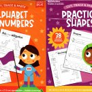 Cut, Trace, and Paste - Practice Shapes & Alphabet and Numbers - Reproducible Educational Workbook