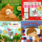 The Four Seasons, Time for Bed, Baby Animals, Zoe`s Pizza Palace - A Lift-a-Flat Board Book