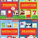 First Grade Educational Workbooks - Good Grades - Reading, Phonics, Addition, & Subtraction