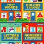 Workbooks Numbers & Counting, Colors & Shapes, Letters & Writing, First Words