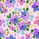Magnetic School Locker Wallpaper (Full Sheet Magnetic) - Flowers - Pack of 3 Sheets - vr18