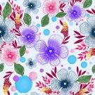 Magnetic School Locker Wallpaper (Full Sheet Magnetic) - Flowers - Pack of 3 Sheets - vr19