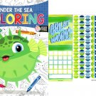 Under the Sea - Coloring Book + Award Stickers and Charts