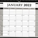 2022 Monthly Spiral-Bound Wall / Desk Calendar - 12 Months - v1