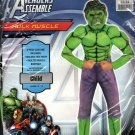 Authentic Marvel Avengers Hulk Child Muscle Chest Costume/Toy Size L 12-14