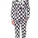 Suitmeister Everyday Suits for Men - Checked Black White Costume L