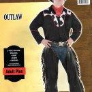 Outlaw, Men's Adult Plus, 3-Piece Costume