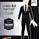 Mens Slender Man Costume Suit Halloween Dress Teens Boys Small