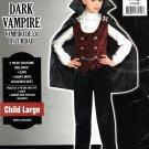 Dark Vampire Halloween Costume 2 Pieces Shirt Cape Boys Large 12 - 14