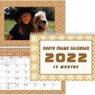 2022 Photo Frame Wall Spiral-bound Calendar - (Edition #09)