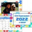 2022 Photo Frame Wall Spiral-bound Calendar - (Edition #001)