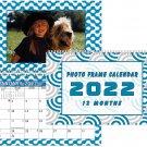 2022 Photo Frame Wall Spiral-bound Calendar - (Edition #004)