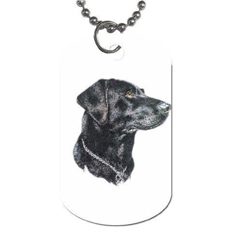 Black Lab Labrador Retriever Dog Tag Necklace Chain - 12099472