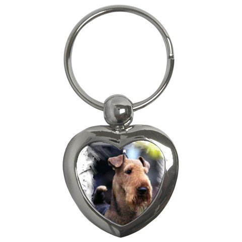 Airedale Terrier Key Chain Heart 12100164