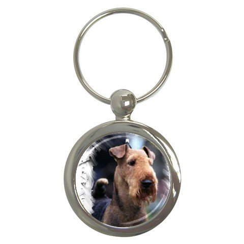 Airedale Terrier Key Chain Round - 12100162
