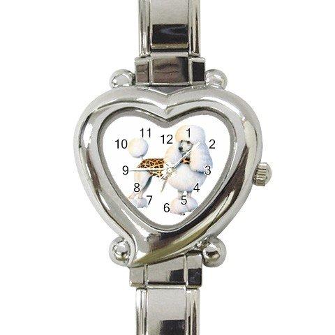 Poodle Heart Italian Charm Watch 12099489