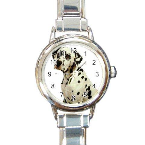 Dalmatian Round Italian Charm Watch 12100107