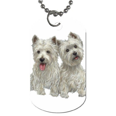 Westies - West Highland White Terriers - Dog Tag Necklace Chain - 12111272