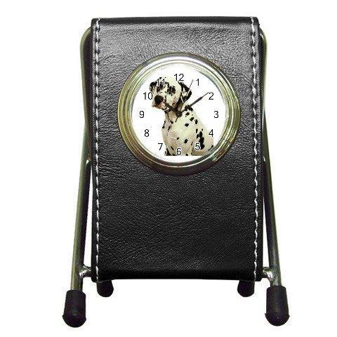 Dalmatian Pen Holder Desk Clock 12100123