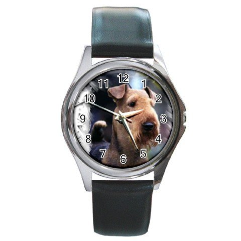 Airedale Terrier  Round Metal Watch UNISEX 12100157