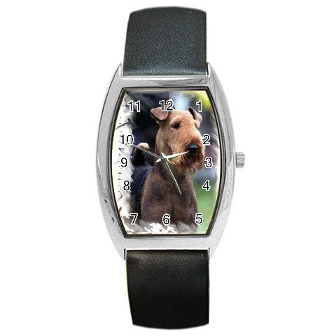 Airedale Terrier Barrel Style Metal Watch 12100168