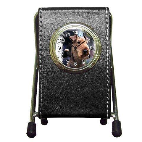 Airedale Terrier Pen Holder Desk Clock  12100172