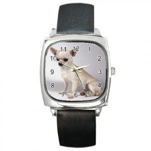 Chihuahua Dog Square Metal Watch UNISEX 12102684