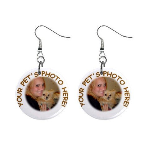 Your Pet Picture Customized Personalized Earrings 12114985