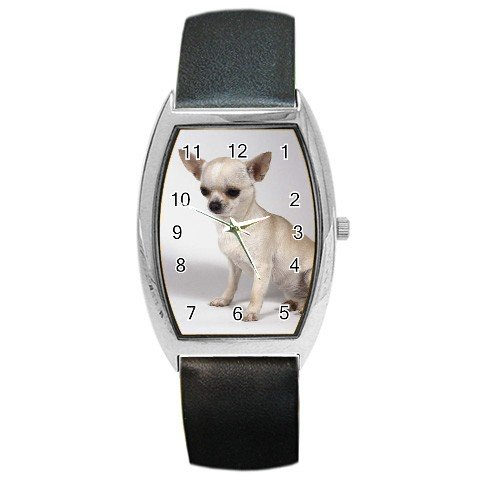 Chihuahua Barrel Style Metal Watch Unisex 12102685