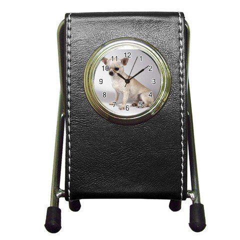 Chihuahua Dog  Pen Holder Desk Clock  12102689