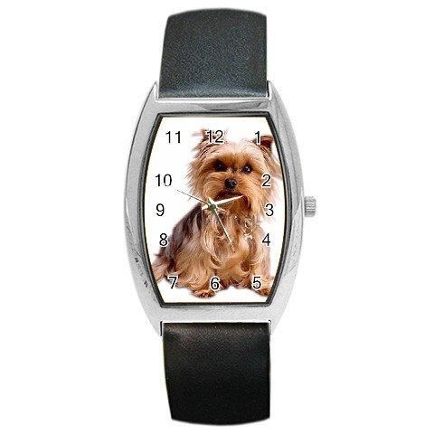 Yorkshire Terrier Yorkie Dog Barrel Style Metal Watch Unisex 12111029