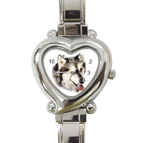 Alaskan Malamute Dog Heart Italian Charm Watch 12131211