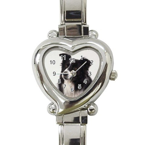 Border Collie Dog Heart Italian Charm Watch 12142760