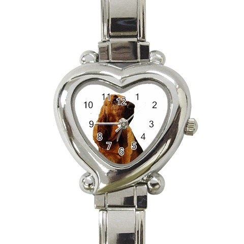 Bloodhound Dog Heart Italian Charm Watch 12144812