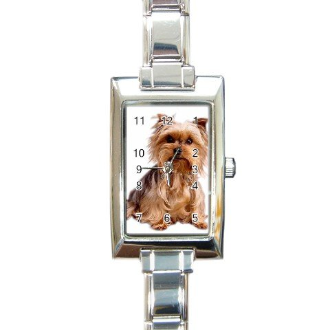 Yorkshire Terrier Yorkie Dog Rectangular Italian Charm Watch 12111015