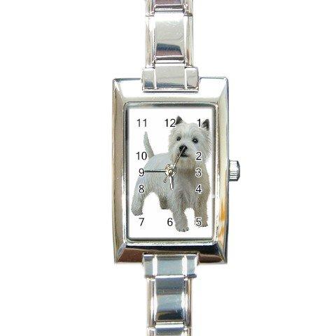 West Highland White Terriers Westies  Dog Rectangular Italian Charm Watch 12111832