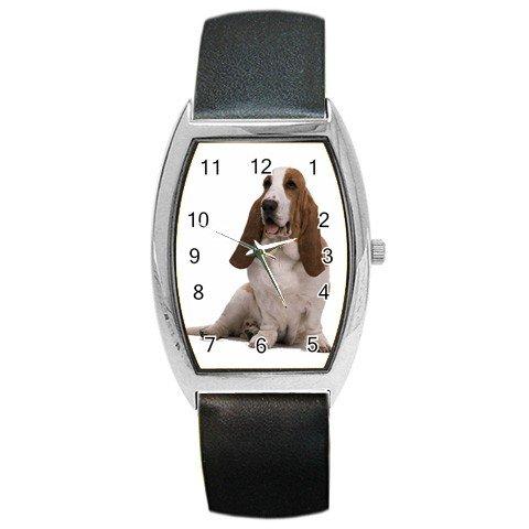 Basset Hound Dog Pet Barrel Style Metal Watch Unisex 12125360