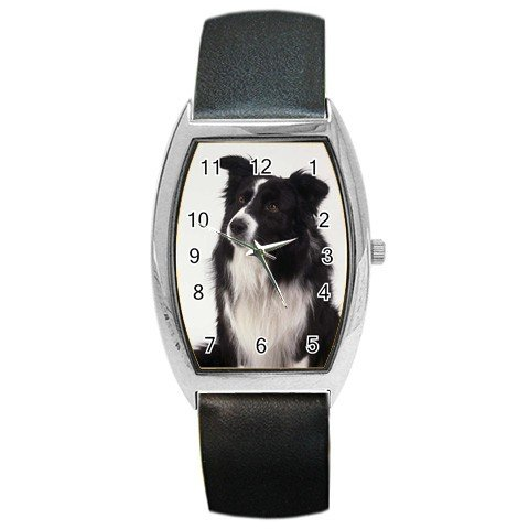 Border Collie Dog Barrel Style Metal Watch Unisex  12142759