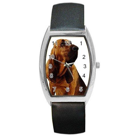 Bloodhound Dog Barrel Style Metal Watch Unisex 12144811