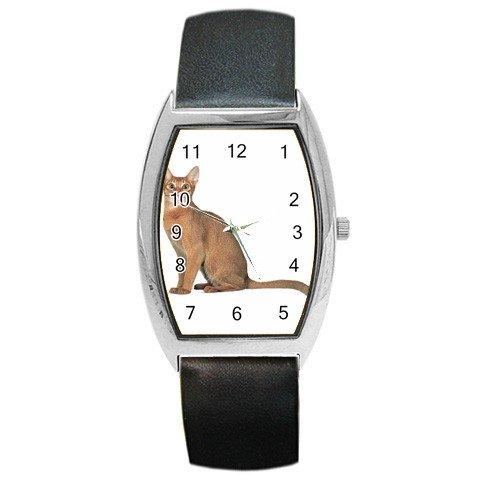 Abyssinian Cat Pet Lover Barrel Style Metal Watch Unisex 12168413