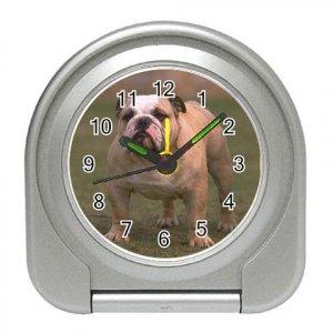 Bulldog Bull Dog  Pet Lover Travel Alarm Clock 12124835