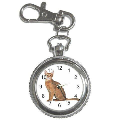 Abyssinian Cat Pet Lover Key Chain Watch 12168396