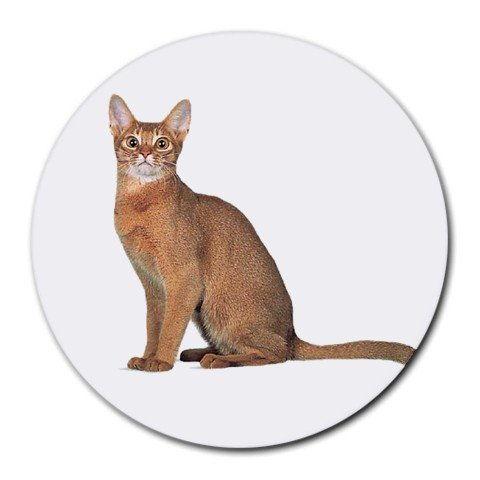 Abyssinian Cat Pet Lover Round Mousepad 12168363
